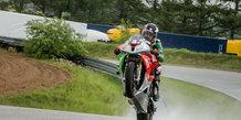 Road Race og monsun-regn på Ring Djursland
