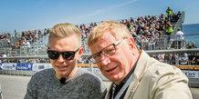 HKH Prins Joachim og Kevin Magnussen