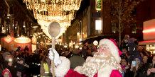 Julemanden kom til Aarhus og tændte lyset