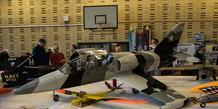 Modelflyveudstilling på Strandskolen