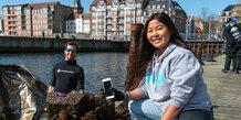 Affaldsindsamling med dykkere ved Navitas
